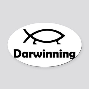 Darwinning Oval Car Magnet