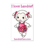New Lambie Logo Wall Decal