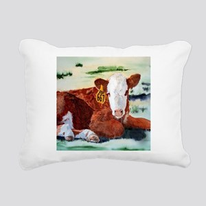Hereford Calf Rectangular Canvas Pillow