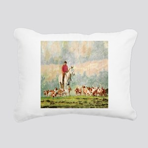Foxhunt Rectangular Canvas Pillow