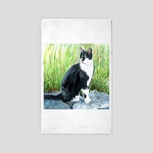 Louie the Tuxedo Cat 3'x5' Area Rug