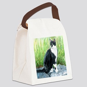 Louie the Tuxedo Cat Canvas Lunch Bag