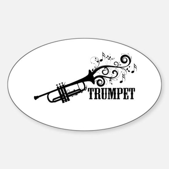 Trumpet with Swirls Decal