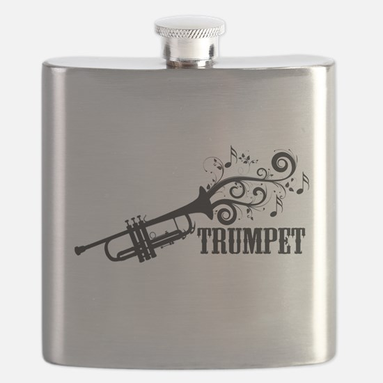 Trumpet with Swirls Flask