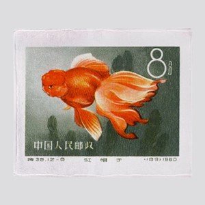 1960 China Oranda Goldfish Postage Stamp Stadium