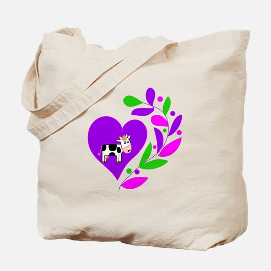 Cow Heart Tote Bag