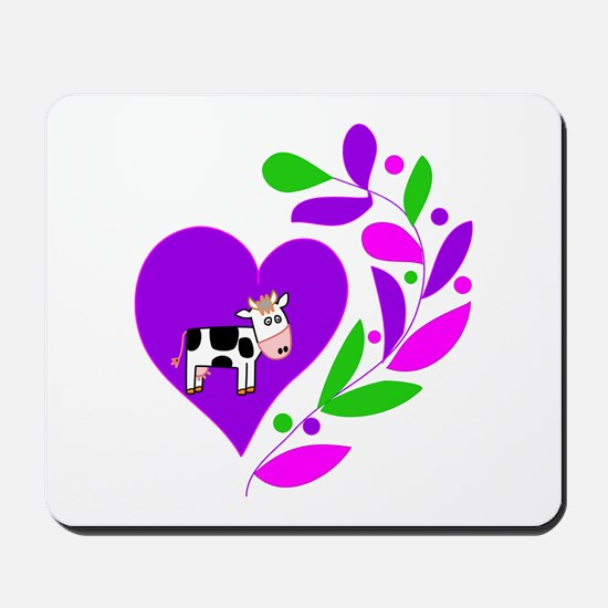 Cow Heart Mousepad