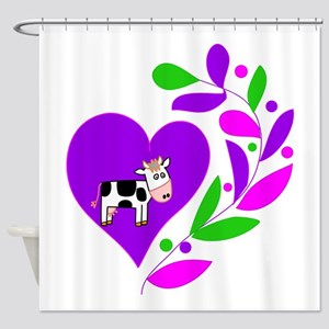 Cow Heart Shower Curtain