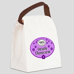 100% Irish Dancer in Purple Canvas Lunch Bag