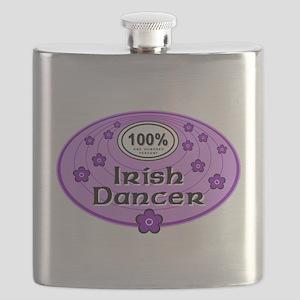 100% Irish Dancer in Purple Flask