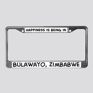 Happiness is Bulawayo License Plate Frame