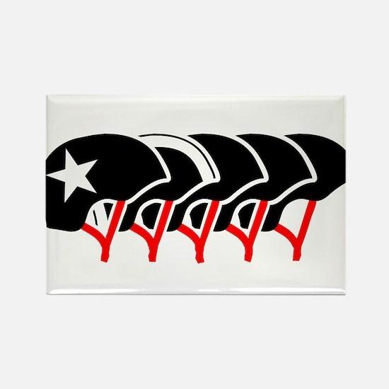 Roller Derby helmets (black design) Rectangle Magn