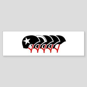Roller Derby helmets (black design) Bumper Sticker