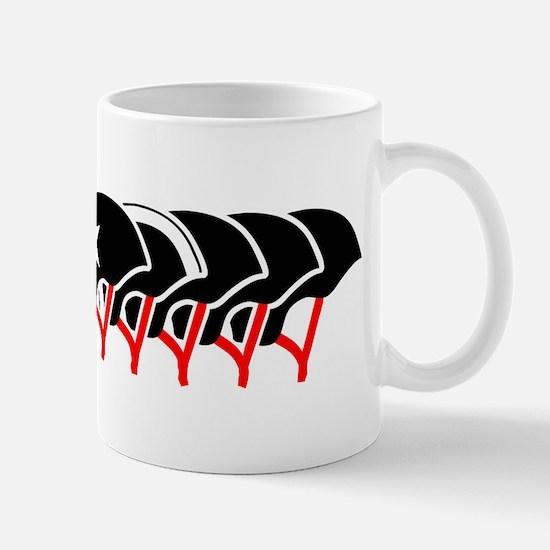 Roller Derby helmets (black design) Mug
