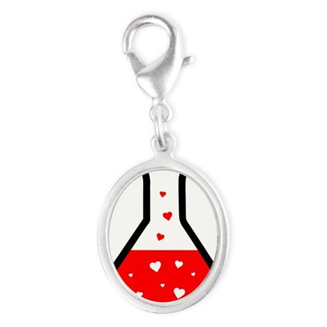 Love Potion (Science) Silver Oval Charm