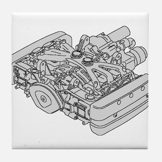 GL1800 Engine Tile Coaster