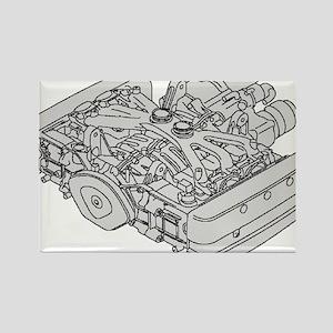 GL1800 Engine Rectangle Magnet