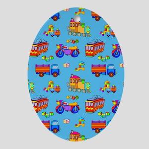 Toys Trucks & Trains Ornament (Oval)