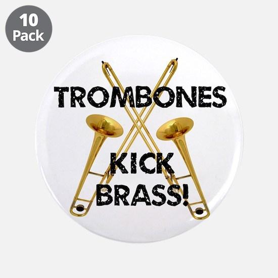 """Trombones Kick Brass 3.5"""" Button (10 pack)"""