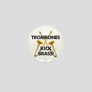 Trombones Kick Brass Mini Button