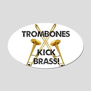Trombones Kick Brass Wall Decal
