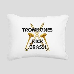Trombones Kick Brass Rectangular Canvas Pillow