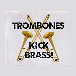 Trombones Kick Brass Throw Blanket