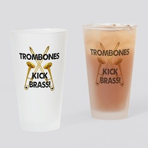 Trombones Kick Brass Drinking Glass
