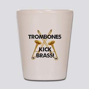 Trombones Kick Brass Shot Glass