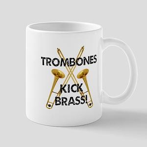 Trombones Kick Brass Mug