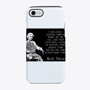 I Am Always Reading Immoral Books - Twain iPhone 7