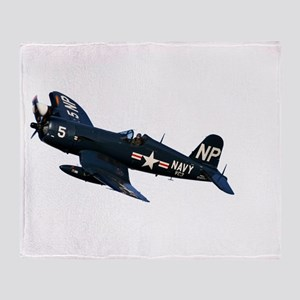 Corsair fighter Throw Blanket