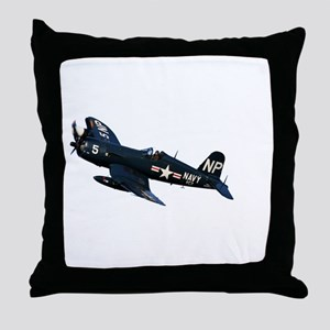 Corsair fighter Throw Pillow