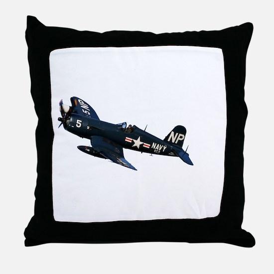 Corsair fighter Throw Pillow