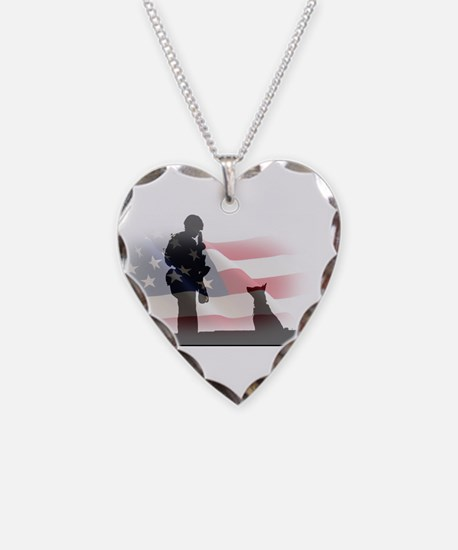 Soldier and shepard Necklace