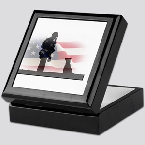 Soldier and shepard Keepsake Box