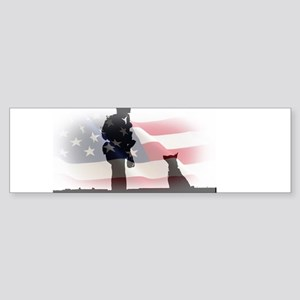 Soldier and shepard Bumper Sticker