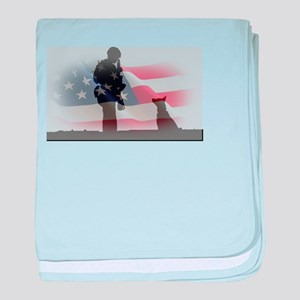 Soldier and shepard baby blanket