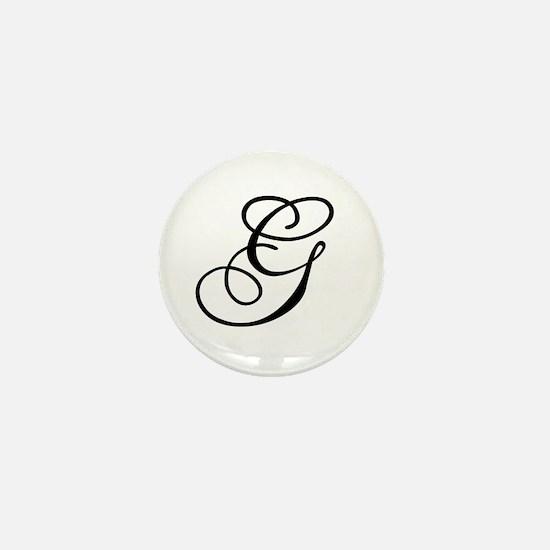 Champagne Monogram G Mini Button