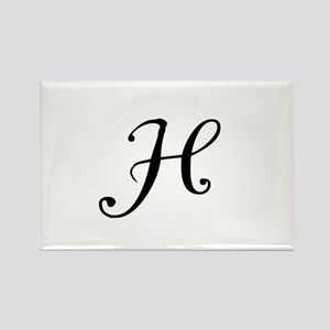 A Yummy Apology Monogram H Rectangle Magnet