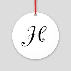A Yummy Apology Monogram H Ornament (Round)