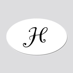 A Yummy Apology Monogram H Wall Decal