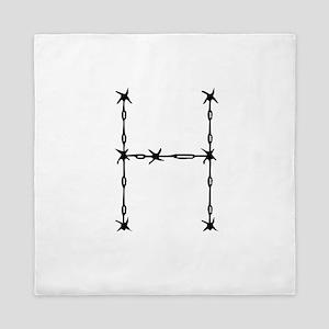 Barbed Wire Monogram H Queen Duvet