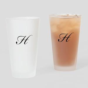 Bickham Script Monogram H Drinking Glass