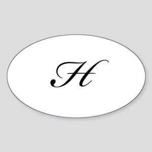Bickham Script Monogram H Sticker