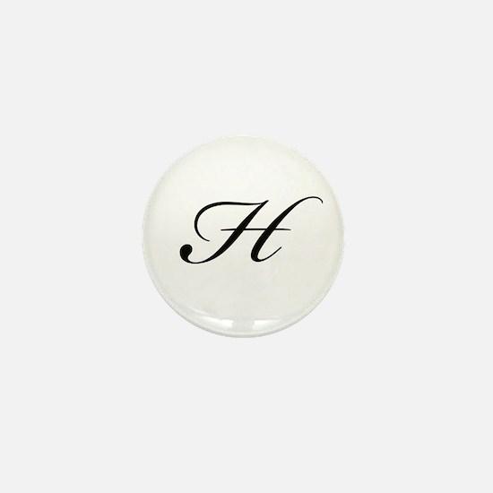 Bickham Script Monogram H Mini Button