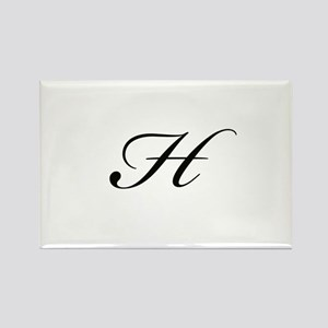 Bickham Script Monogram H Rectangle Magnet