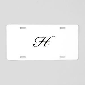 Bickham Script Monogram H Aluminum License Plate