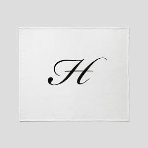 Bickham Script Monogram H Throw Blanket