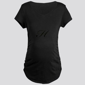 Bickham Script Monogram H Maternity T-Shirt